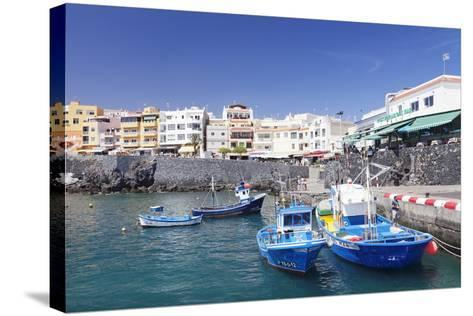 Fishing Boats at the Port, Los Abrigos, Tenerife, Canary Islands, Spain, Europe-Markus Lange-Stretched Canvas Print