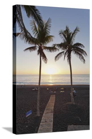 Beach of Puerto Naos at Sunset, La Palma, Canary Islands, Spain, Atlantic, Europe-Markus Lange-Stretched Canvas Print