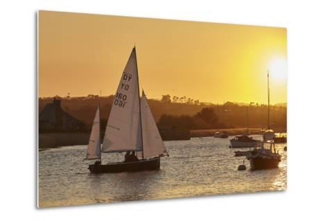 A Sunset View of Sailing on the River Exe at Topsham, Near Exeter, Devon, England, United Kingdom-Nigel Hicks-Metal Print