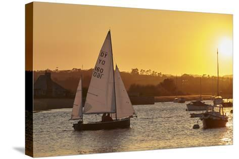 A Sunset View of Sailing on the River Exe at Topsham, Near Exeter, Devon, England, United Kingdom-Nigel Hicks-Stretched Canvas Print