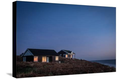 Beach Huts, Embleton Bay, Northumberland, England, United Kingdom, Europe-Bill Ward-Stretched Canvas Print