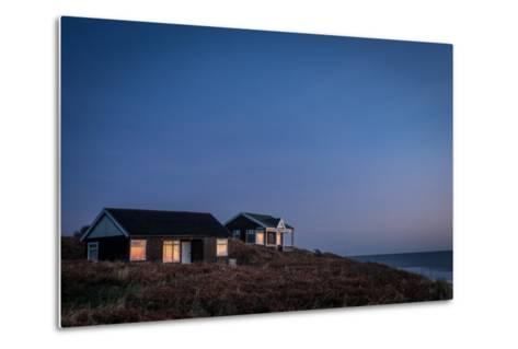 Beach Huts, Embleton Bay, Northumberland, England, United Kingdom, Europe-Bill Ward-Metal Print