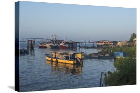 Little Fishing Boats on the Suriname River, Paramaribo, Surinam, South America-Michael Runkel-Stretched Canvas Print