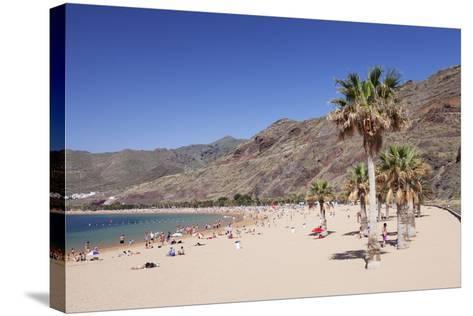 Playa De Las Teresitas Beach, San Andres, Tenerife, Canary Islands, Spain, Atlantic, Europe-Markus Lange-Stretched Canvas Print