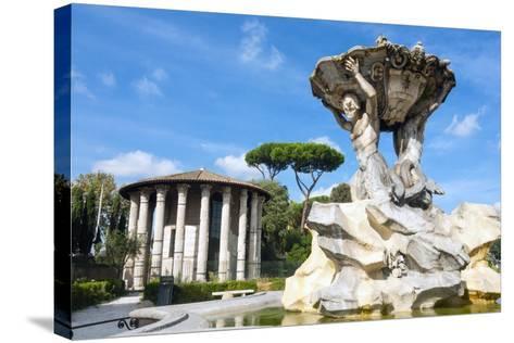 Fountain of the Tritons, Lazio-Nico Tondini-Stretched Canvas Print