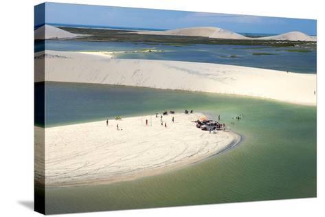 Aerial of Dunes Near Jericoacoara, Ceara, Brazil, South America-Alex Robinson-Stretched Canvas Print