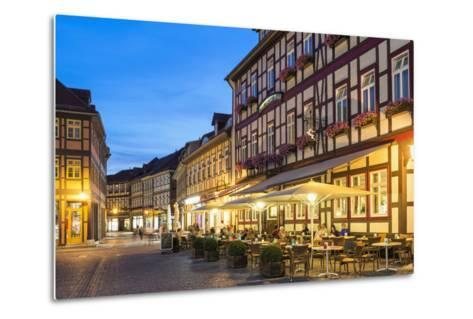 Market Square and Town Hall at Twilight, Wernigerode, Harz, Saxony-Anhalt, Germany, Europe-G & M Therin-Weise-Metal Print