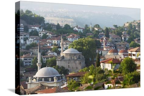 Old Ottoman Town Houses and Izzet Pasar Cami Mosque, Safranbolu, Central Anatolia, Turkey Minor-Christian Kober-Stretched Canvas Print