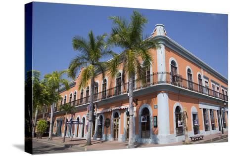 Colonial Buildings, Near Machado Square, Mazatlan, Sinoloa State, Mexico, North America-Richard Maschmeyer-Stretched Canvas Print