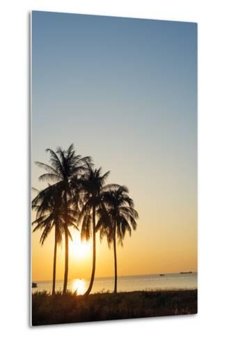 Sunset at Long Beach, Phu Quoc Island, Vietnam, Indochina, Southeast Asia, Asia-Christian Kober-Metal Print