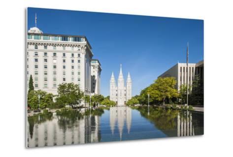Salt Lake Temple, Temple Square, Salt Lake City, Utah, United States of America, North America-Michael DeFreitas-Metal Print