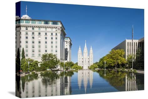 Salt Lake Temple, Temple Square, Salt Lake City, Utah, United States of America, North America-Michael DeFreitas-Stretched Canvas Print