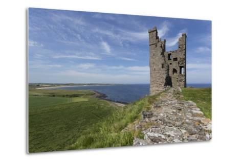 Ruins of Dunstanburgh Castle, Overlooking Fields and Embleton Bay, Northumberland, England, U.K.-Eleanor Scriven-Metal Print