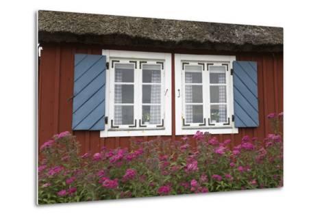 Typical Swedish Cottage Window, Arild, Kulla Peninsula, Skane, South Sweden, Sweden, Scandinavia-Stuart Black-Metal Print