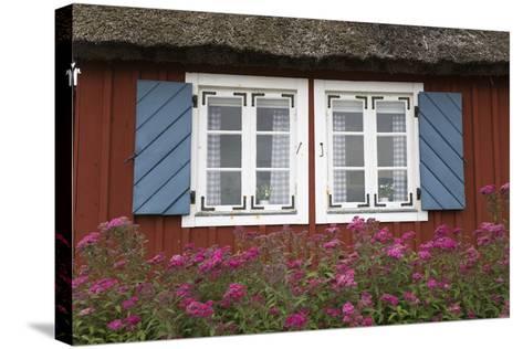 Typical Swedish Cottage Window, Arild, Kulla Peninsula, Skane, South Sweden, Sweden, Scandinavia-Stuart Black-Stretched Canvas Print
