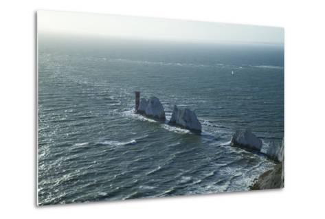 View of the Needles, Isle of Wight, England, United Kingdom, Europe-Peter Barritt-Metal Print
