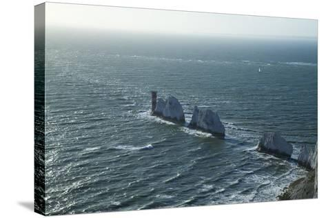 View of the Needles, Isle of Wight, England, United Kingdom, Europe-Peter Barritt-Stretched Canvas Print