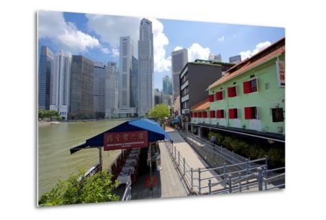 Boat Quay, Singapore, Southeast Asia-Frank Fell-Metal Print