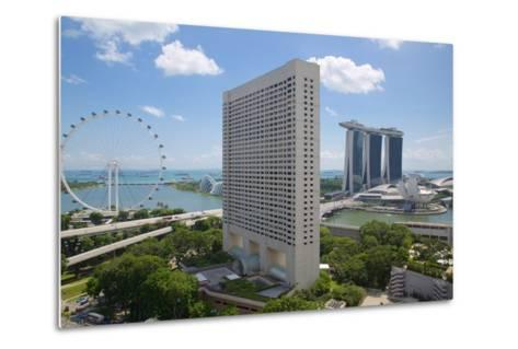 Singapore Flyer from South Beach, Singapore, Southeast Asia-Frank Fell-Metal Print