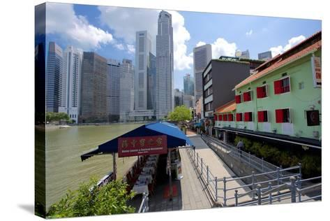 Boat Quay, Singapore, Southeast Asia-Frank Fell-Stretched Canvas Print