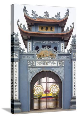 Gate of Chua Trinh Pagoda, Uong Bi, Quang Ninh Province, Vietnam, Indochina, Southeast Asia, Asia-Jason Langley-Stretched Canvas Print
