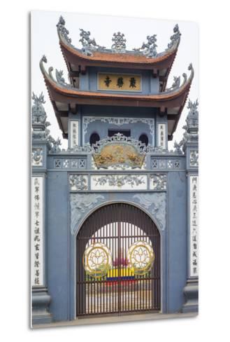 Gate of Chua Trinh Pagoda, Uong Bi, Quang Ninh Province, Vietnam, Indochina, Southeast Asia, Asia-Jason Langley-Metal Print