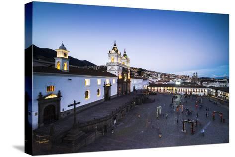 Plaza De San Francisco and Church and Convent of San Francisco at Night, Old City of Quito, Ecuador-Matthew Williams-Ellis-Stretched Canvas Print