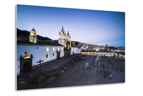 Plaza De San Francisco and Church and Convent of San Francisco at Night, Old City of Quito, Ecuador-Matthew Williams-Ellis-Metal Print