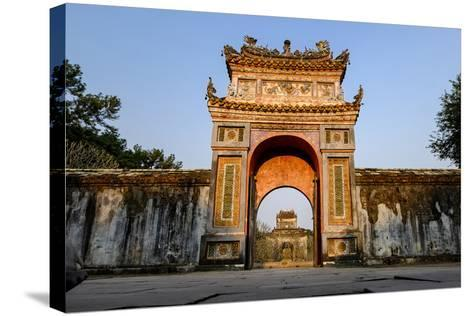 Gate, Tomb of Emperor Tu Duc of Nguyen Dynasty, Dated 1864, Group of Hue Monuments-Nathalie Cuvelier-Stretched Canvas Print