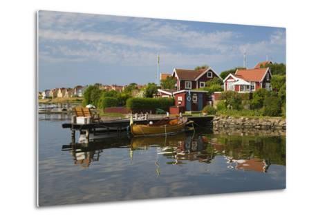 Swedish Red Summer Houses in Brandaholm, Dragso Island, Karlskrona, Blekinge, South Sweden, Sweden-Stuart Black-Metal Print