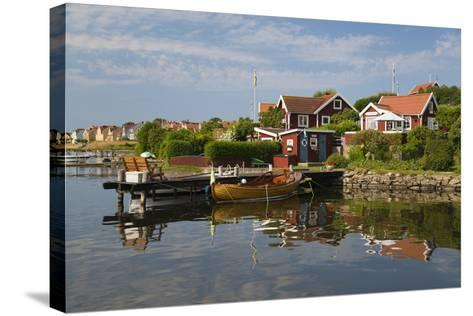 Swedish Red Summer Houses in Brandaholm, Dragso Island, Karlskrona, Blekinge, South Sweden, Sweden-Stuart Black-Stretched Canvas Print
