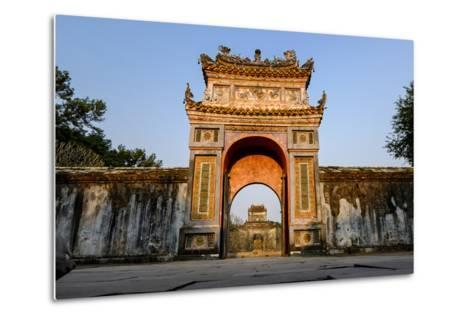Gate, Tomb of Emperor Tu Duc of Nguyen Dynasty, Dated 1864, Group of Hue Monuments-Nathalie Cuvelier-Metal Print