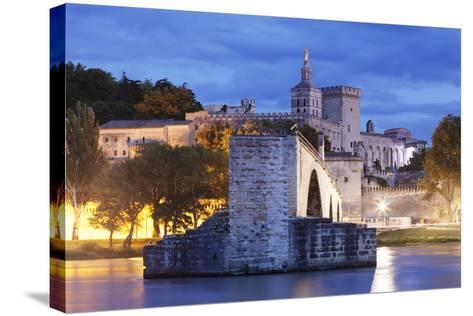Bridge St. Benezet over Rhone River-Markus Lange-Stretched Canvas Print