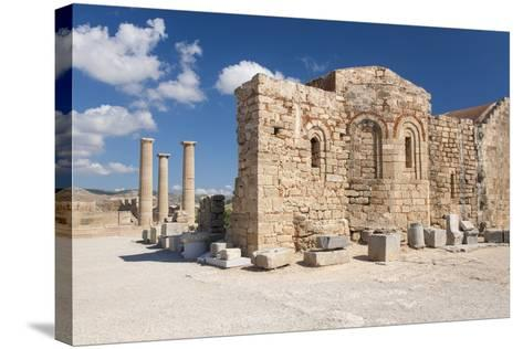 Remains of the Byzantine Church of Agios Ioannis on the Acropolis, South Aegean-Ruth Tomlinson-Stretched Canvas Print