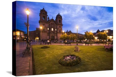 Cusco Cathedral Basilica of the Assumption of the Virgin at Night, Peru-Matthew Williams-Ellis-Stretched Canvas Print