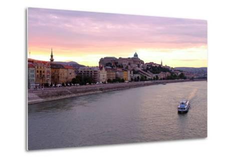 The Danube River and Buda Castle, Budapest, Hungary, Europe-Carlo Morucchio-Metal Print