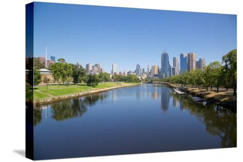 Yarra River and City Skyline, Melbourne, Victoria, Australia, Pacific-Frank Fell-Stretched Canvas Print