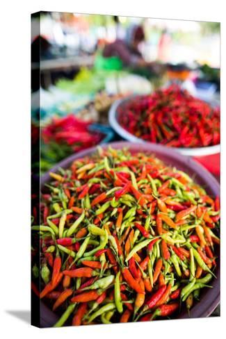 Chillies in Market, Phuket, Thailand, Southeast Asia, Asia-John Alexander-Stretched Canvas Print