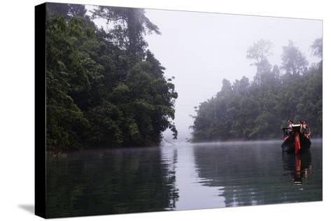 Tourists Sightseeing, Ratchaprapa Reservoir, Khao Sok National Park, Surat Thani Province, Thailand-Christian Kober-Stretched Canvas Print