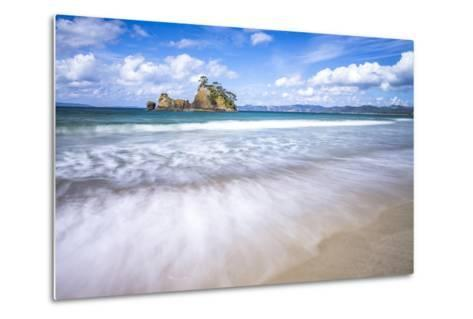 Pungapunga Island, Whangapoua Beach, Coromandel Peninsula, North Island, New Zealand, Pacific-Matthew Williams-Ellis-Metal Print