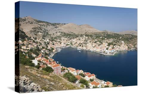 View over the Harbour from Hillside, Dodecanese Islands-Ruth Tomlinson-Stretched Canvas Print