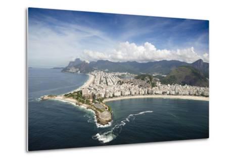 Aerial, Rio De Janeiro, Brazil, South America-Alex Robinson-Metal Print