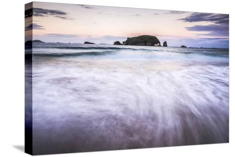 Sunset at Hahei Beach, Coromandel Peninsula, North Island, New Zealand, Pacific-Matthew Williams-Ellis-Stretched Canvas Print