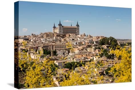 The Alcazar Towering Above the Rooftops of Toledo, Castilla La Mancha, Spain, Europe-Martin Child-Stretched Canvas Print