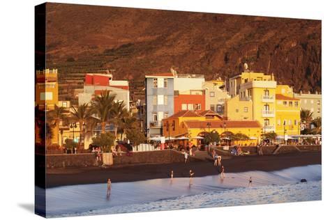 Playa Del Puerto Beach, Puerto De Tazacorte, La Palma, Canary Islands, Spain, Europe-Markus Lange-Stretched Canvas Print