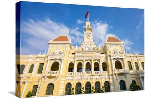 Colonial Facade of Ho Chi Minh City Hall (Ho Chi Minh City People's Committee), Vietnam-Jason Langley-Stretched Canvas Print