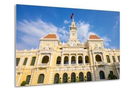 Colonial Facade of Ho Chi Minh City Hall (Ho Chi Minh City People's Committee), Vietnam-Jason Langley-Metal Print