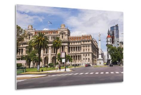 Teatro Colon in Plaza Lavalle (Lavalle Square), Buenos Aires, Argentina, South America-Matthew Williams-Ellis-Metal Print