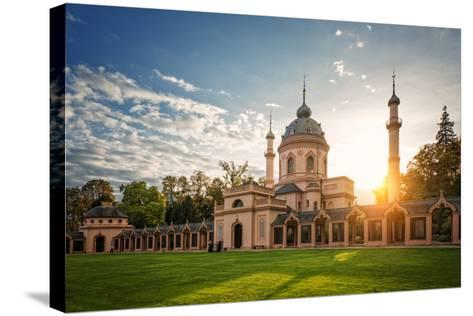 The Red Mosque, Schwetzingen, Baden-Wurttemberg, Germany, Europe-Andy Brandl-Stretched Canvas Print