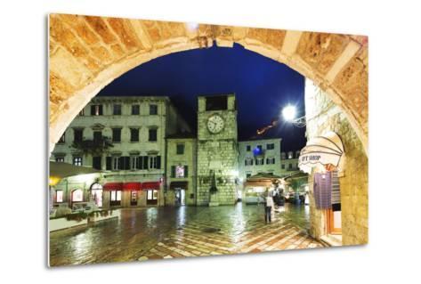 Clock Tower, Kotor, UNESCO World Heritage Site, Montenegro, Europe-Christian Kober-Metal Print